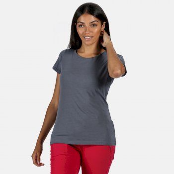 Women's Carlie Coolweave T-Shirt Onyx Grey