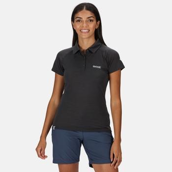 Women's Kalter Short Sleeve Polo Shirt Seal Grey