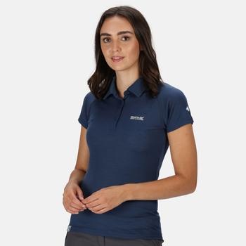 Women's Kalter Short Sleeve Polo Shirt Dark Denim