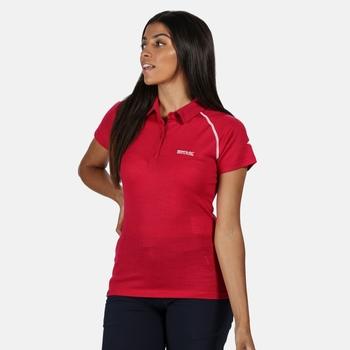 Women's Kalter Short Sleeve Polo Shirt Dark Cerise