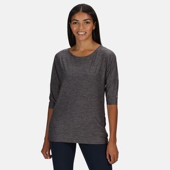 Women's Pulser 3/4 Sleeve T-Shirt Black