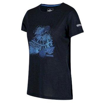Women's Fingal V Graphic T-Shirt Navy Marl