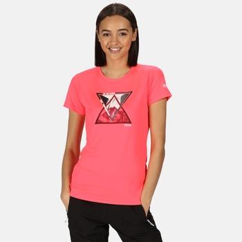 Women's Fingal V Graphic T-Shirt Neon Pink
