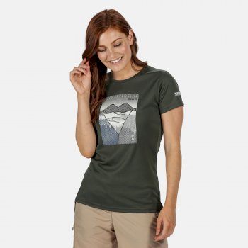 Women's Fingal V Graphic T-Shirt Thyme Leaf