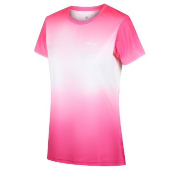 Women's Fingal V Graphic T-Shirt Neon Pink Gradient