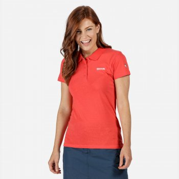 Women's Sinton Coolweave Polo Shirt Red Sky