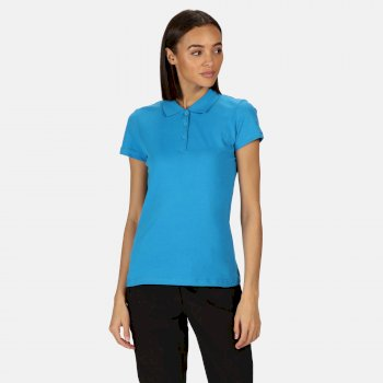 Women's Sinton Coolweave Polo Shirt Blue Aster