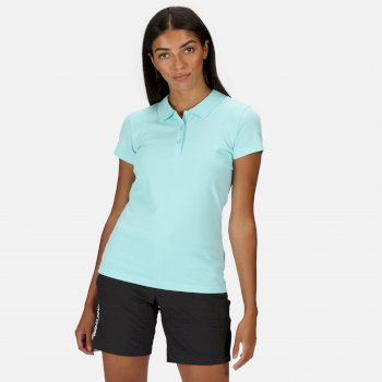 Women's Sinton Coolweave Polo Shirt Cool Aqua