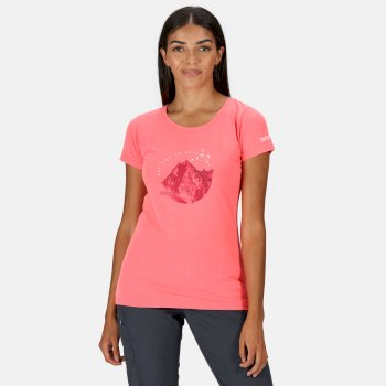Women's Breezed Graphic T-Shirt Neon Pink