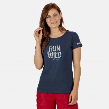 Women's Breezed Graphic T-Shirt Dark Denim