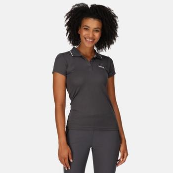 Women's Maverick V Active Polo Shirt Seal Grey