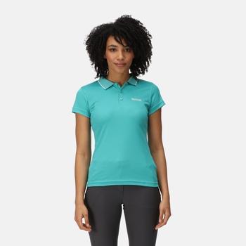 Women's Maverick V Active Polo Shirt Turquoise