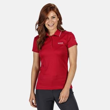 Women's Maverick V Active Polo Shirt Dark Cerise