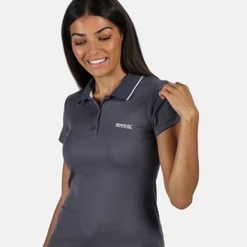 Women's Maverick V Active Polo Shirt Onyx Grey