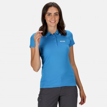 Women's Maverick V Active Polo Shirt Blue Aster