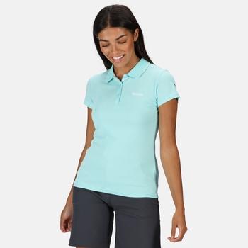 Women's Maverick V Active Polo Shirt Cool Aqua