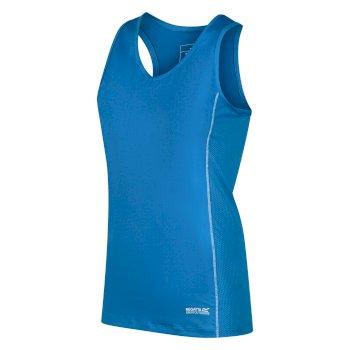 Women's Varey Active Vest Blue Aster