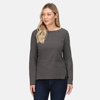 Women's Fernanda Striped T-Shirt Black White