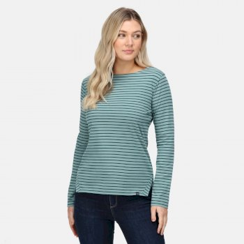 Women's Fernanda Striped T-Shirt Ivy Moss Evergreen