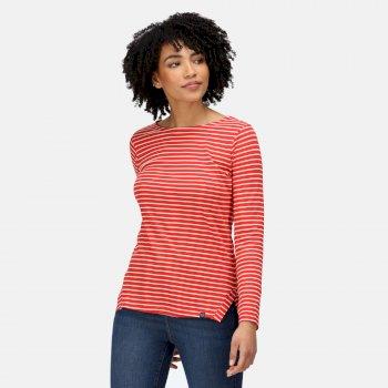 Women's Fernanda Striped T-Shirt Molten Light Vanilla