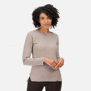 Women's Fernanda Striped T-Shirt Coconut Light Vanilla