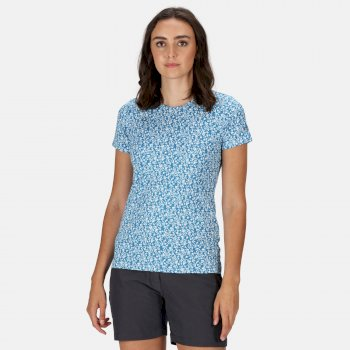Women's Fingal Edition T-Shirt Blue Aster Floral Bloom