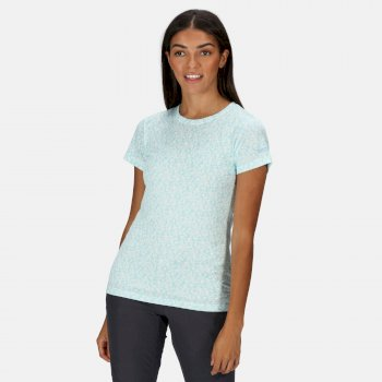 Women's Fingal Edition T-Shirt Cool Aqua Floral