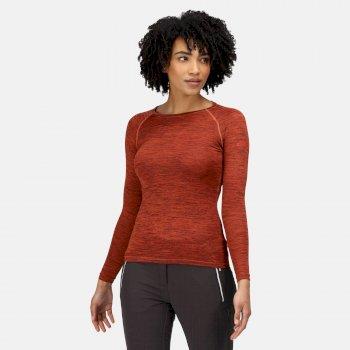 Women's Burlow Marl T-Shirt Cajun Orange