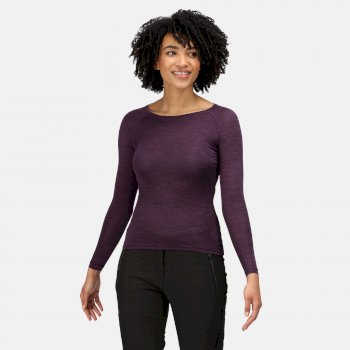 Women's Burlow Marl T-Shirt Dark Aubergine