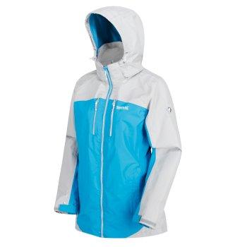 Women's Calderdale II Breathable Waterproof Shell Jacket Fluro Blue Light Steel
