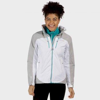 Women's Calderdale II Breathable Waterproof Shell Jacket White Light Steel