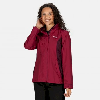 Women's Daysha Lightweight Waterproof Walking Jacket with Concealed Hood Purple Potion Prune