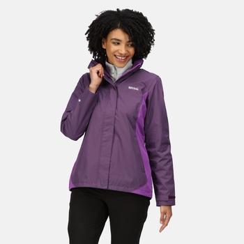 Women's Daysha Waterproof Jacket Dark Aubergine Purple Sapphire