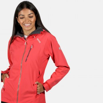 Women's Birchdale Waterproof Hooded Walking Jacket Red Sky