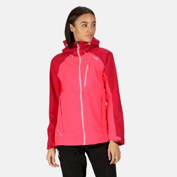 Women's Birchdale Waterproof Jacket Neon Pink Dark Cerise