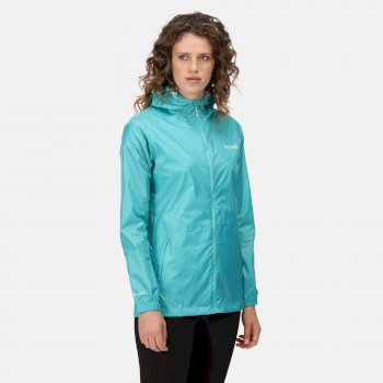 Women's Pack-It III Lightweight Waterproof Packaway Walking Jacket Turquoise