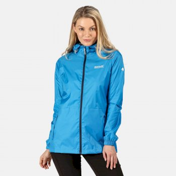 Women's Pack-It III Lightweight Waterproof Packaway Walking Jacket Blue Aster