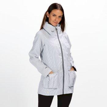 02c32262 Women's Nakotah Lightweight Waterproof Jacket White Ticking Stripe