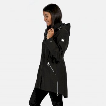 Women's Alerie Long Length Waterproof Jacket Black