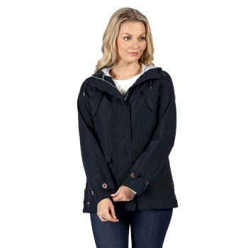 Kimberley Walsh Ninette Lightweight Hooded Waterproof Jacket Navy