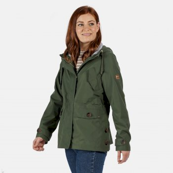 Women's Ninette Lightweight Hooded Waterproof Jacket Thyme Leaf