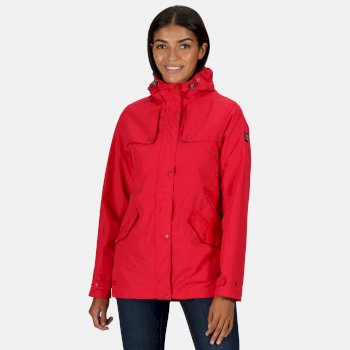 Women's Bertille Lightweight Hooded Waterproof Jacket Virtual Pink