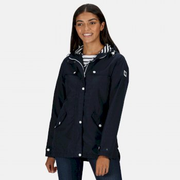 Women's Bertille Lightweight Hooded Waterproof Jacket Navy