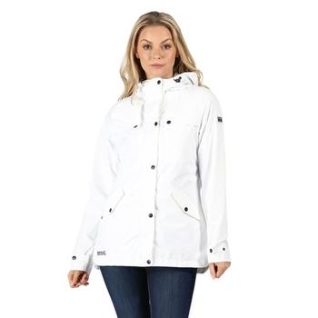 Women's Bertille Lightweight Hooded Waterproof Jacket White