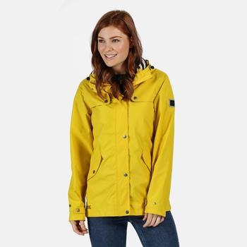 Women's Bertille Lightweight Hooded Waterproof Jacket Yellow Sulphur