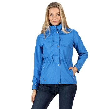 Kimberley Walsh Narelle Lightweight Waterproof Funnel Neck Jacket Strong Blue