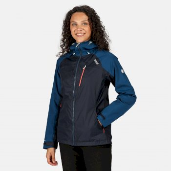 Women's Highton Stretch Waterproof Hooded Walking Jacket Navy Blue Opal
