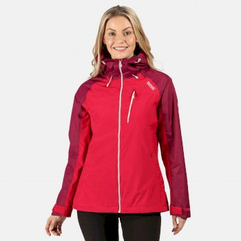 Women's Highton Stretch Waterproof Hooded Walking Jacket Dark Cerise Purple Potion