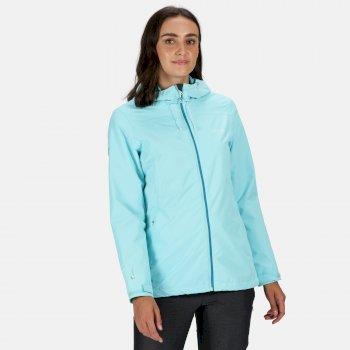Women's Hamara III Lightweight Waterproof Hooded Walking Jacket Cool Aqua
