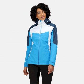 Women's Oklahoma VI Waterproof Hooded Walking Jacket Blue Aster Dark Denim